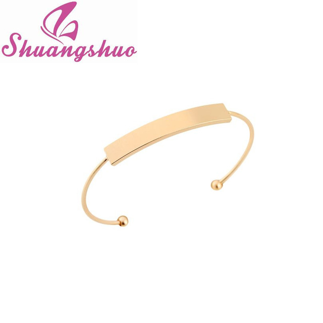 steel bracelet flat men bangle cuff shape pin d shackle bar crystal women wholesale bracelets for head bangles silver screw stainless