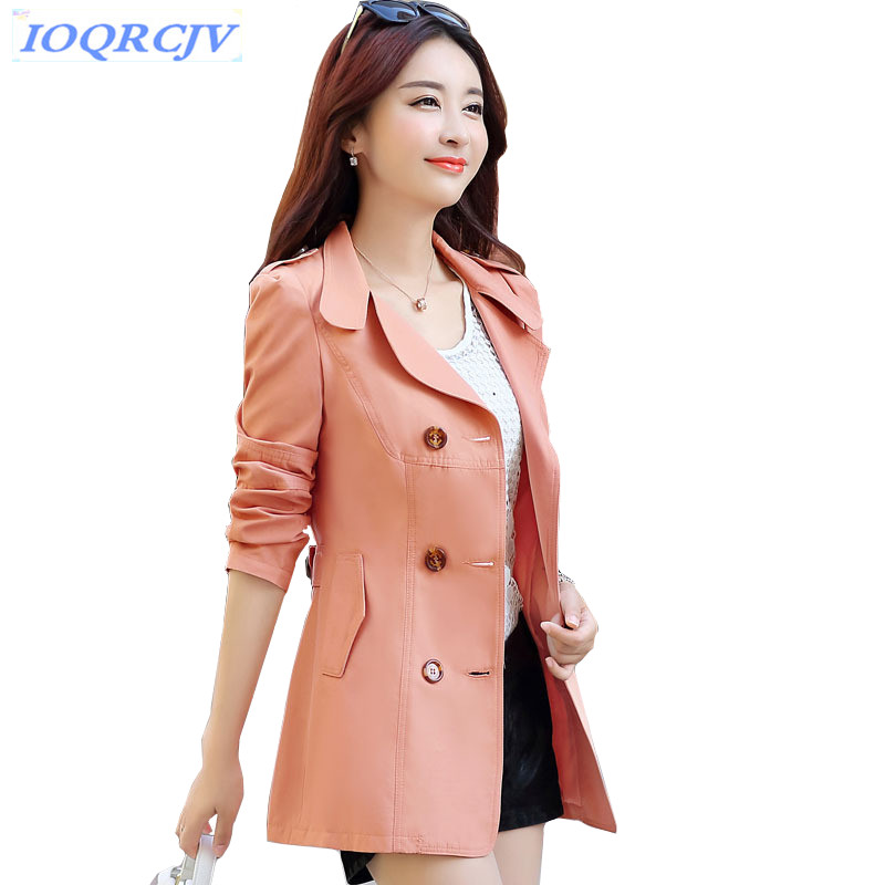 New Spring Women Short   Trench   Coat Fashion Double-breasted Windbreaker Coat Plus size Slim Students Short Outerwear IOQRCJV N042