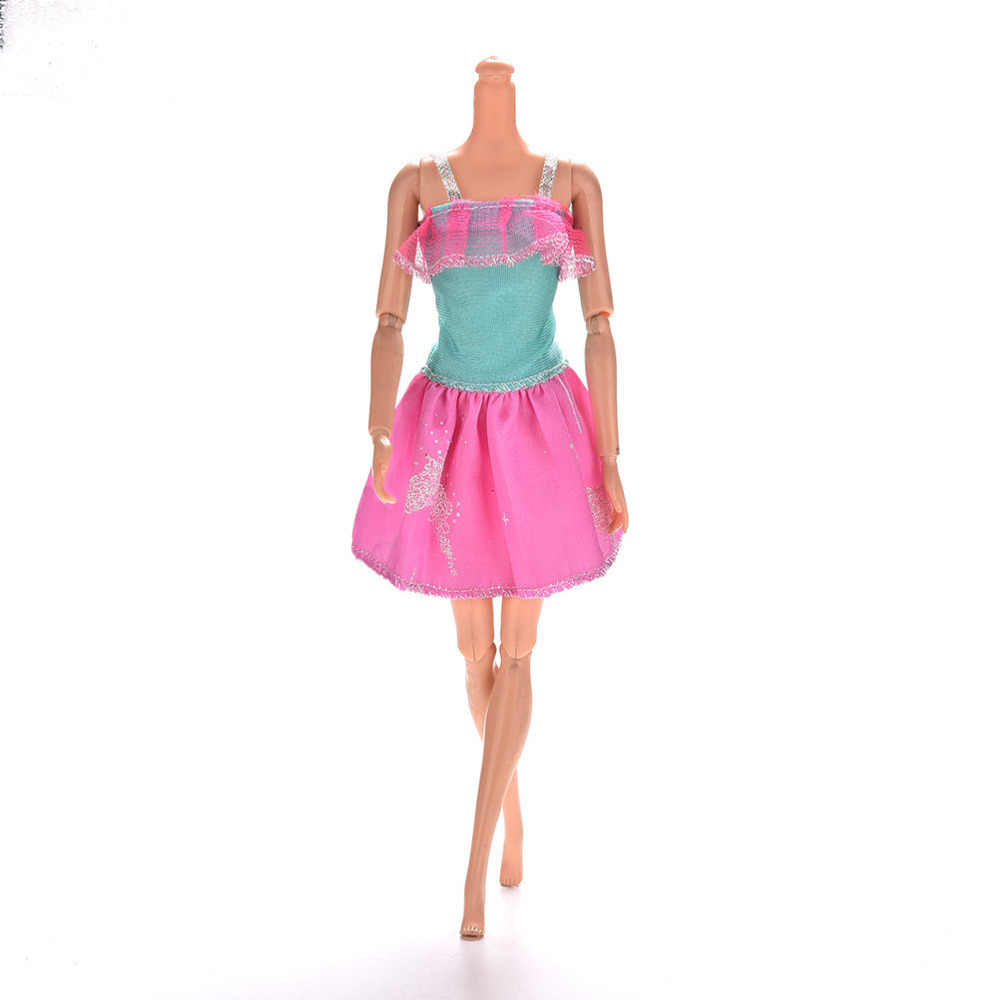 TOYZHIJIA 1 Pcs colorful fashion Princess Lace Dress party Gown Clothes for Barbies Dolls For Barbie Doll Dress Clothing13cm