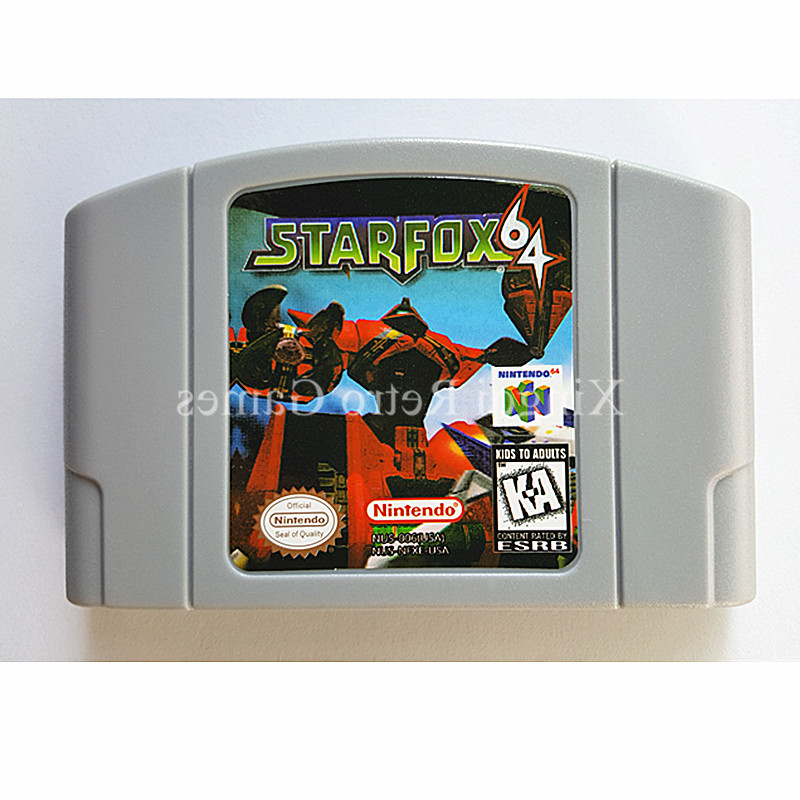 Nintendo 64 Game Star Fox 64 Video Game Cartridge Console Card English Language US Version