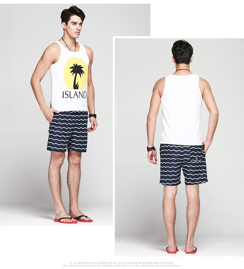 Homens Praia Shorts Board Shorts Troncos QIKERBONG