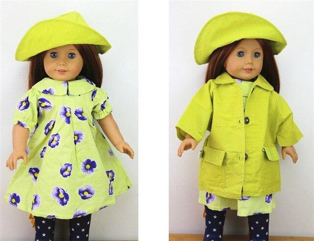 АМЕРИКАНСКИЙ ПРИНЦЕССА Куклы для 18 ''Девушка кукла Ручной Работы Цветок красивое платье и пальто шляпа девушка одежда и аксессуары