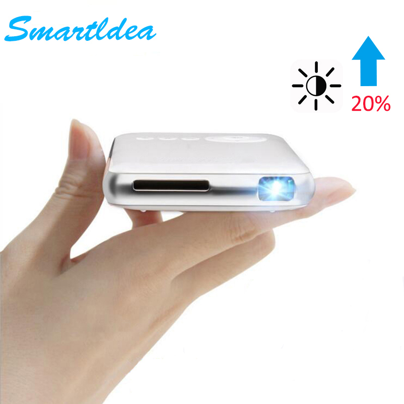 SmartIdea Android 7.1.2 5000mAh Battery Handheld Mini LED Projector WiFi Bluetooth DLP 1080P Beamer Support AirPlay Miracast AC3