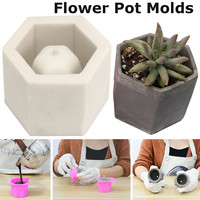 3D Hexagon Concrete Planter Cactus Cement Silicone Clay Mold DIY Clay Craft Flower Pot Mold Silicone Ceramic Plaster Vase Mould