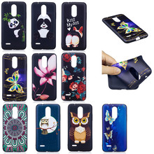 Relief Case For Coque LG K8 2017 Black TPU Soft painting Cases For LG K8 2017 Full Cover Mobile Phone Shell