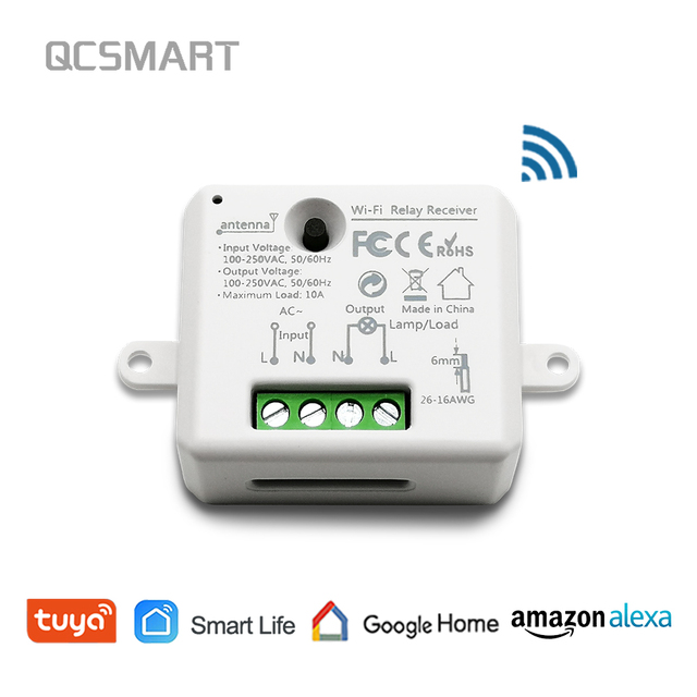 Tuya Smart Life pequeño módulo de toma de corriente WiFi Control remoto de tu dispositivo, trabajo con Google Alexa de Amazon Echo IFTTT