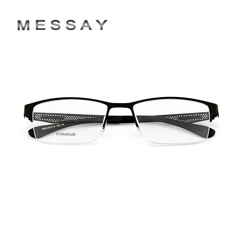 MESSAY Brand Glasses Frame Business Titanium + TR Tip ...