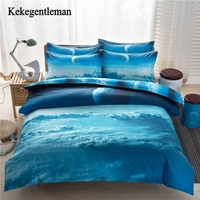 Kekegentleman 3D Galaxy Bedding Sets Universe Outer Space Themed Bed Sheets Cosmic Stars Duvet Cover Set Twin/Queen Size
