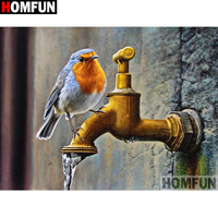 "HOMFUN Full Square/Round Drill 5D DIY Diamond Painting ""Faucet bird"" Embroidery Cross Stitch 5D Home Decor A01772"