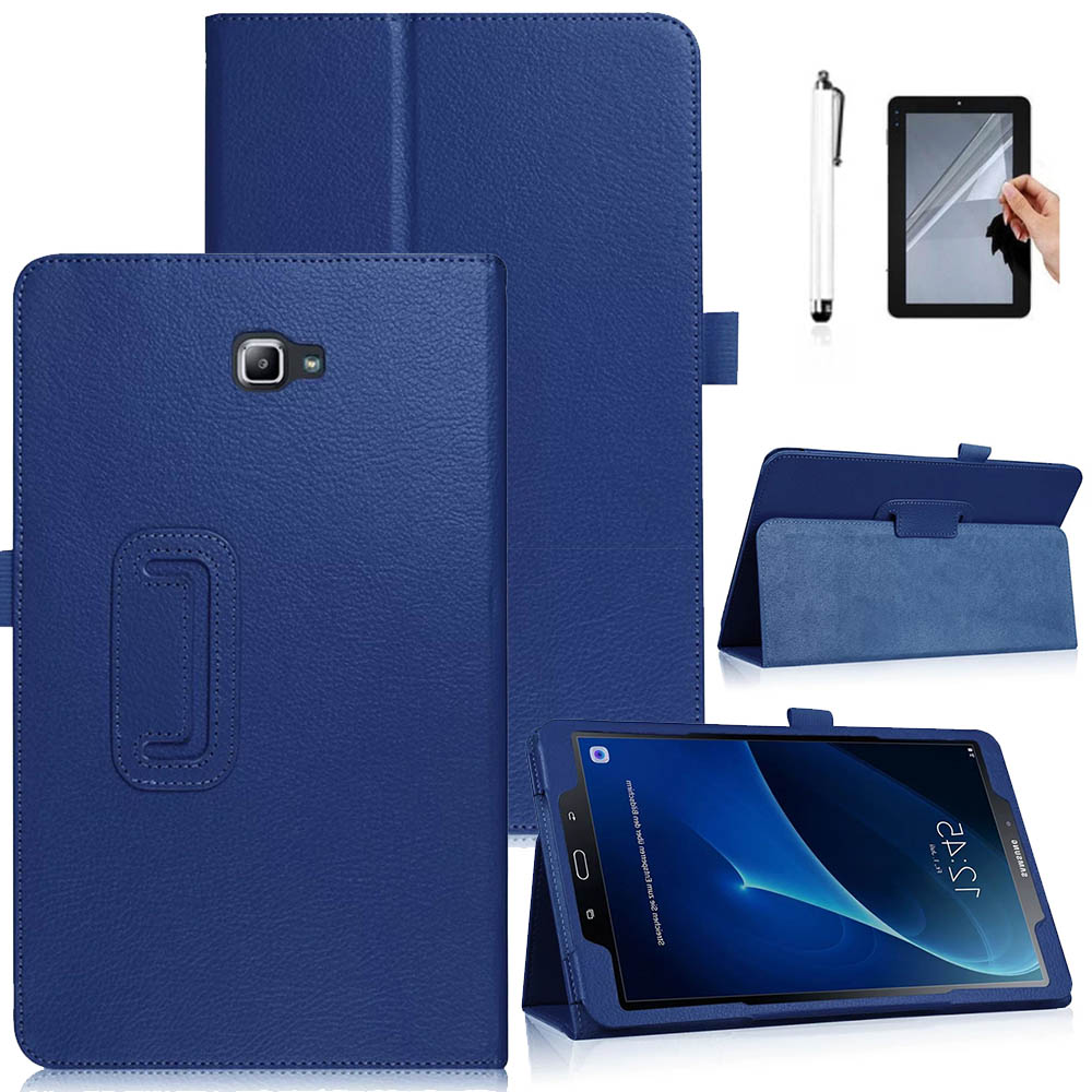 Eagwell PU Leather Case For Samsung Galaxy Tab A 10.1 2016 T580 T585 T580N SM-T580 Flip Stand Tablet Cover Case Shell Funda fashion pu leather flip case for samsung galaxy tab a a6 10 1 2016 t580 t585 sm t580 smart case cover funda tablet sleep wake up