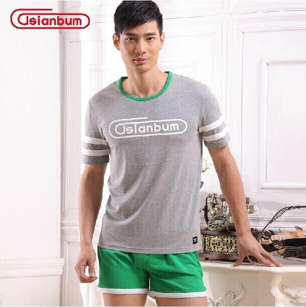 Asianbum мужская хлопок Главная Обстановка костюм Asianbum марка аутентичные главная износ рубашки и шорты комплект