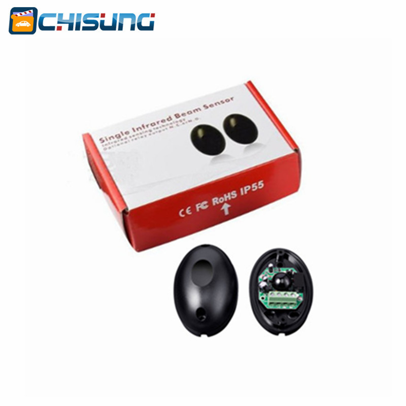 Waterproof 15m Black Infrared Sensor Single Beam Alarm Photoelectric Infrared Detector Home Door Security System thyssen parts leveling sensor yg 39g1k door zone switch leveling photoelectric sensors