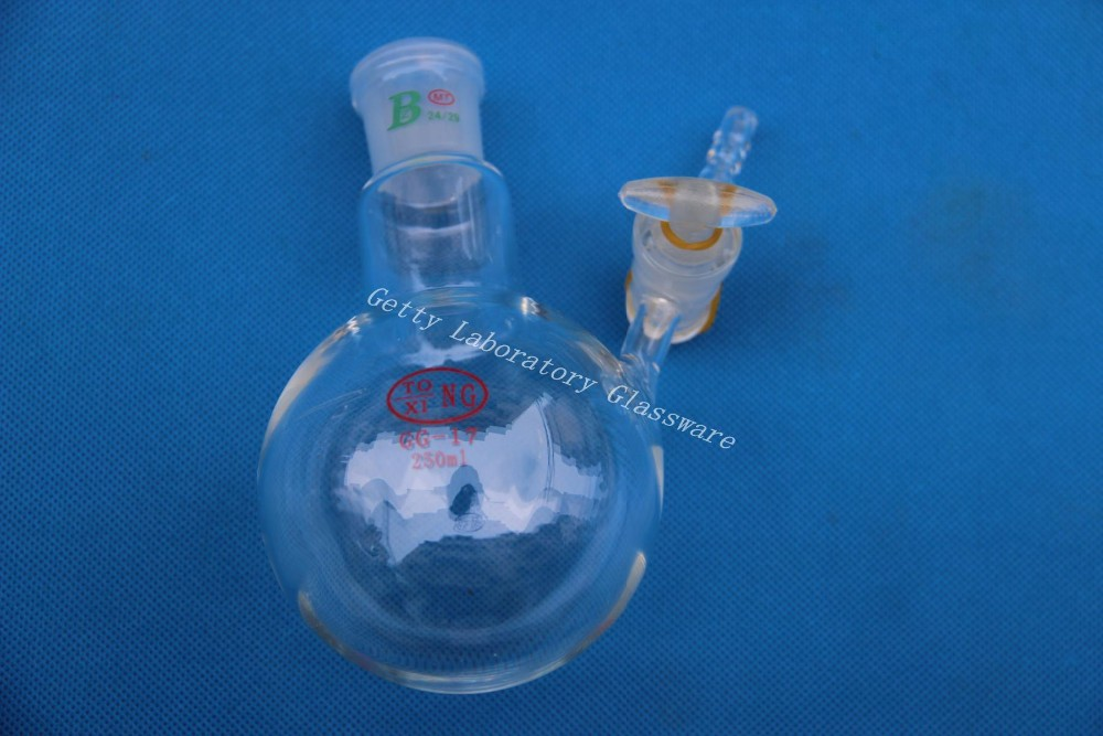 250ml Reaction Flask, with glass stopcock, glass lab instrument stirring motor driven single deck chemical reactor 20l glass reaction vessel with water bath 220v 110v with reflux flask