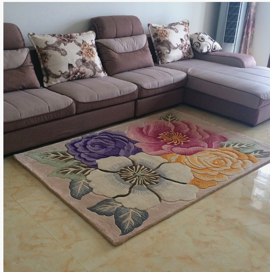 Living Room Carpet American Carpet Pure Wool Carpet Bed Rug Quality Fashion Coffee Table Carpet