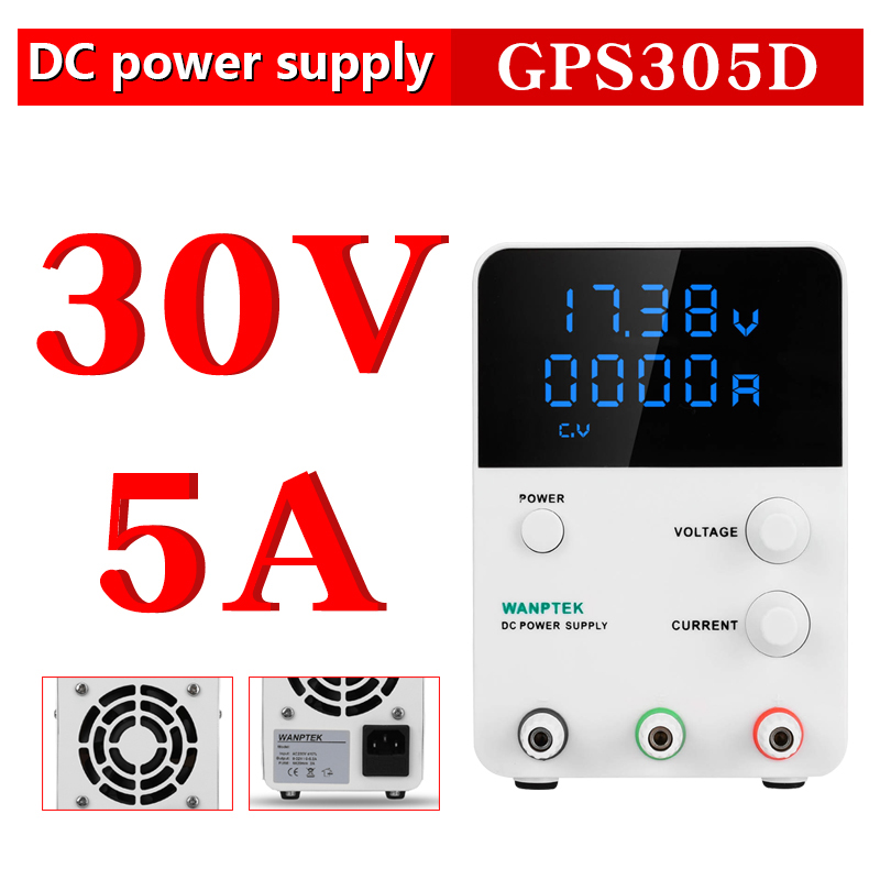 GPS305D Wanptek Adjustable Laboratory Dc Power Supply Variable 30V 5A Regulated The Power Modul Digital Switching