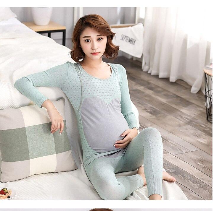 2018 homewear pregnancy clothes sets pajamas for pregnant women modal soft breastfeeding pajamas nursing clothes maternity suit