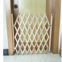 Simple install wooden fence gate fence dog doors sliding doors Wood fence railing Pet isolation child safety Simple safety grids