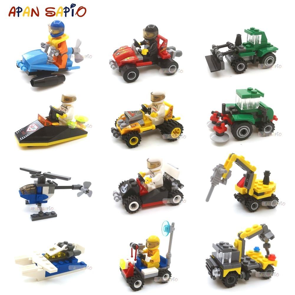 Мини-строительные блоки, автомобили, игрушки, военные блоки, кирпичи, развивающие блоки, игрушки для детей