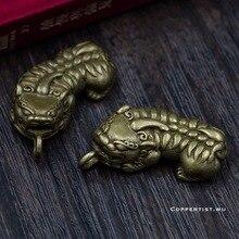 Pixiu animal keychain Brass Brave troops ring Trinket Crafts Key holder hangings Bag pendant key chain