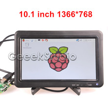 10 1 LCD Monitor Display 1366 768 Screen Panel with Remote Control for font b Raspberry