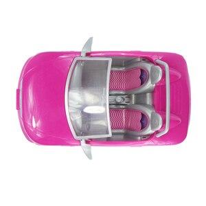Image 4 - 1/6 Pop Auto 2 Zetels Roze Convertible Voor Barbie Pop Accessoires Klassieke Speelgoed Cadeau Voor Meisjes Kids Niet Batterij Aangedreven