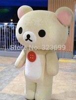 Cartoon Mascot Rilakkuma Mascot Costume Teddy Bear Mascot for Halloween party event
