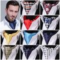 Punto de polca entradas 100% seda Ascot cravat, Jacquard informal bufandas de la bufanda corbatas partido tejido Ascot MB