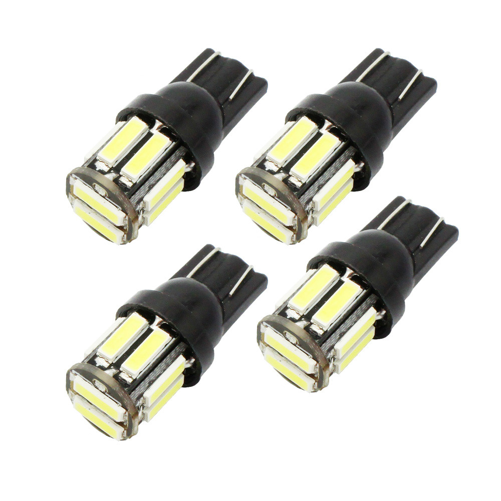 4Pcs W5W 10-7020 SMD Car T10 LED 194 168 Wedge Replacement Reverse Instrument Panel Lamp White Blue Bulbs For Clearance Lights4Pcs W5W 10-7020 SMD Car T10 LED 194 168 Wedge Replacement Reverse Instrument Panel Lamp White Blue Bulbs For Clearance Lights