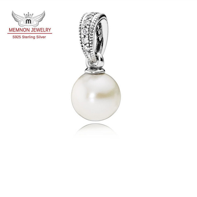 2017 Valentine's Day new charms pearl pendant charm 925 sterling silver jewelry fit bead charm bracelet necklace DIY DA192