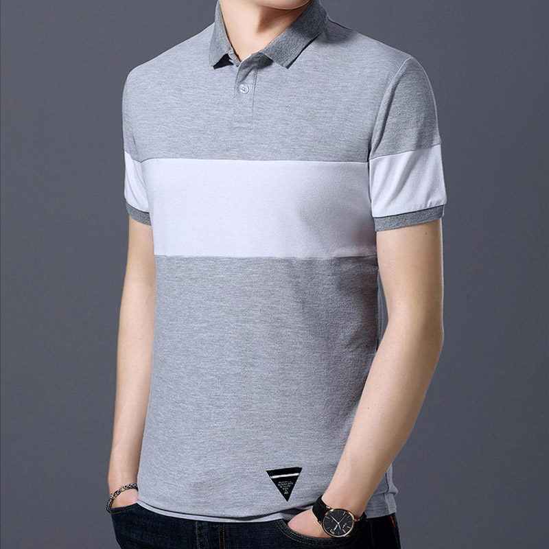 Men Classic Striped   Polo   Shirt Cotton Short Sleeve NEW Arrived summer New Men's   Polo   Shirt High Quality Men Cotton Short Sleeve