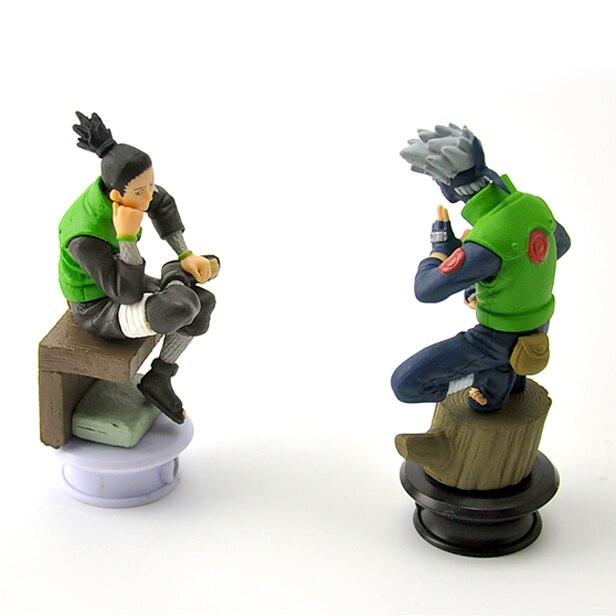 6pcs/lot 9.5cm Naruto Chess Action Figures Toys New Sasuke Naruto Shippuden Uzumaki Hinata Madara Kakashi Model Toy 4