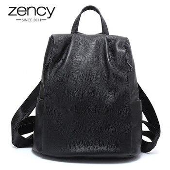5c0b1d5897ef Product Offer. Zency новый черный Для женщин рюкзак 100% натуральная кожа  практичная ...