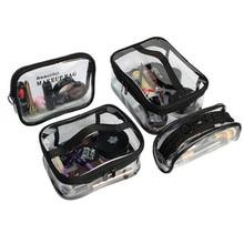 Transparent PVC Cosmetic Bag For Women Zipper Clear Makeup