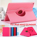 Tablet Case For Apple iPad mini123/mini4 Rotating Two-in-one Leather Flat PU Leather Woven Removable Soft Cover