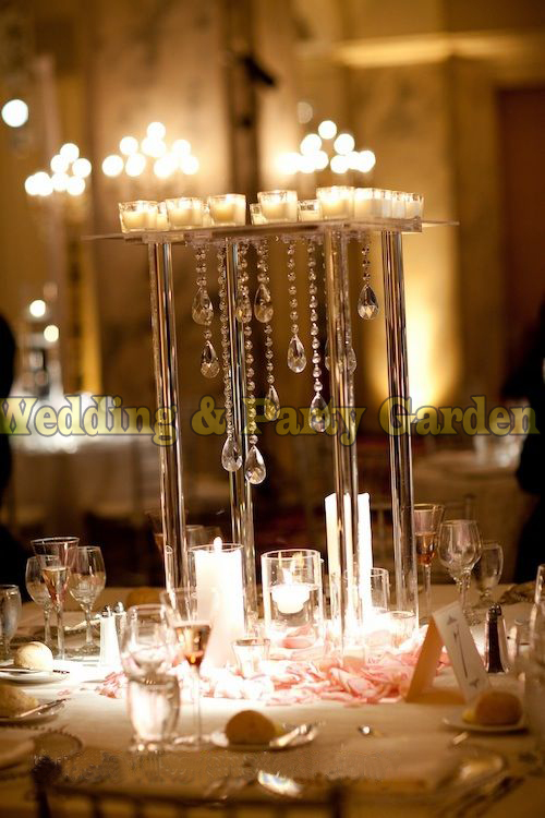 Cm tall crystal table centerpiece rectangle flower stand