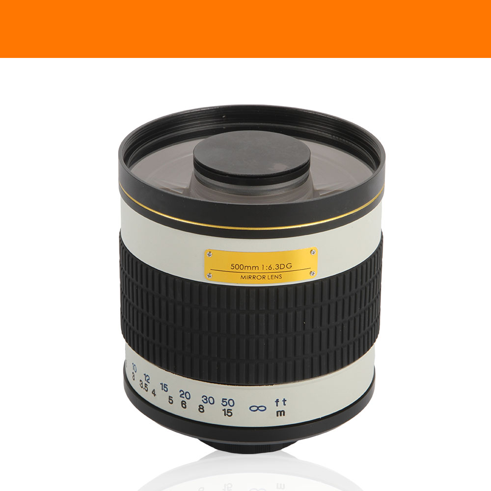 Lente espejo teleobjetivo F / 6.3 de 500 mm + anillo adaptador de - Cámara y foto - foto 2