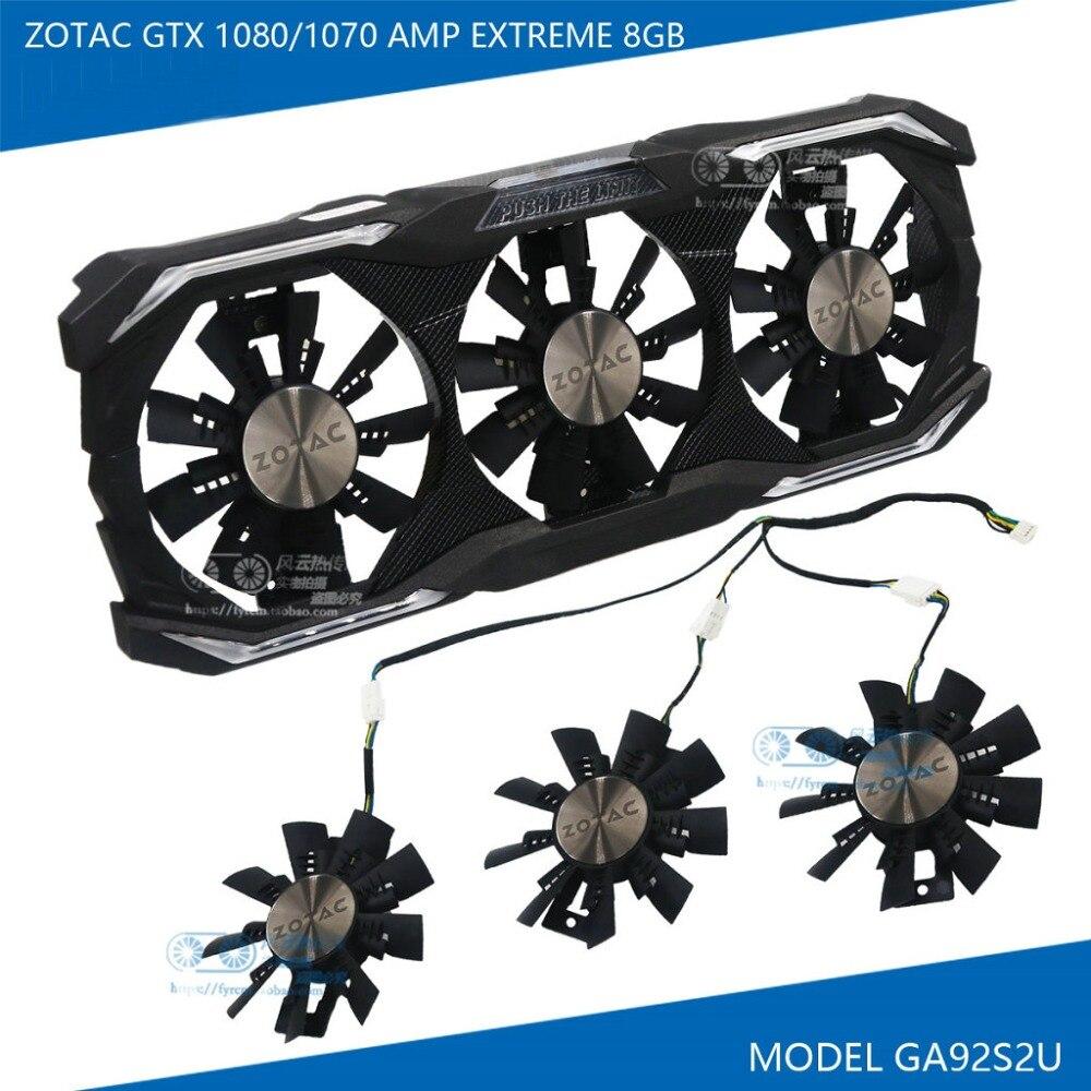 New Original GA92S2U DC12V 0.46A for ZOTAC GTX1070/GTX1080 AMP EXTREME 8GB Graphics card Cooling fan