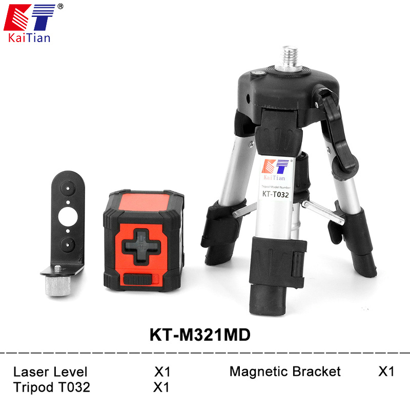 Kaitian Laser Level Self Leveling 2 lines Mini Cross lines Horizontal Vertical Line Laser Red beam with Tripod Magnetic bracket free shipping highly visible line laser kapro 810 with vertical and horizontal vials