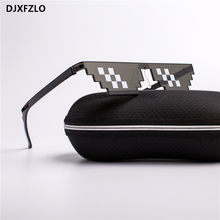 DJXFZLO 2018 Glasses 8 Bit MLG Pixelated Sunglasses Men Women Brand Thug Life Party Eyeglasses Mosaic Vintage Eyewear UV400(China)