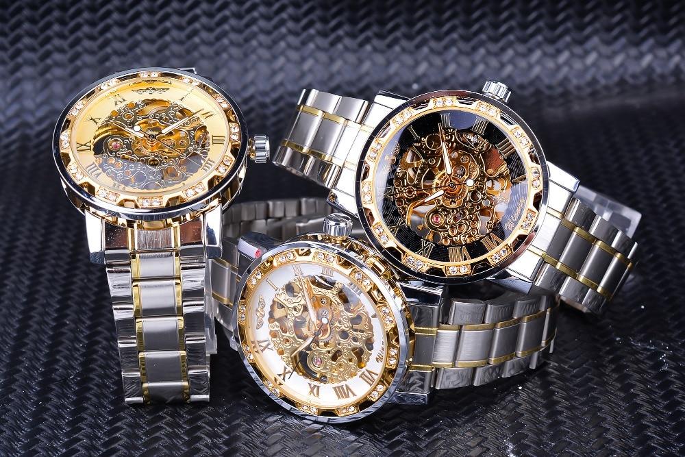 HTB1UfgqaELrK1Rjy1zbq6AenFXa5 Winner Transparent Fashion Diamond Luminous Gear Movement Royal Design Men Top Brand Luxury Male Mechanical Skeleton Wrist Watch