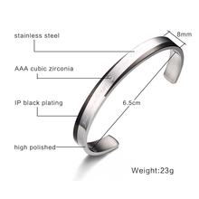Couple Bracelets CZ Stone Cuff Bracelet for Women Men High Quality Stainless Steel