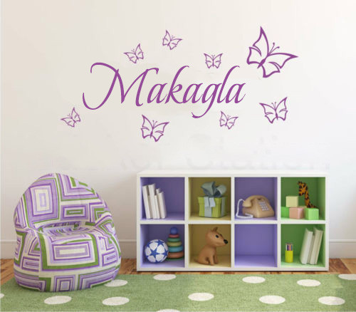 customer made personalised any name butterflies wall art quote wall