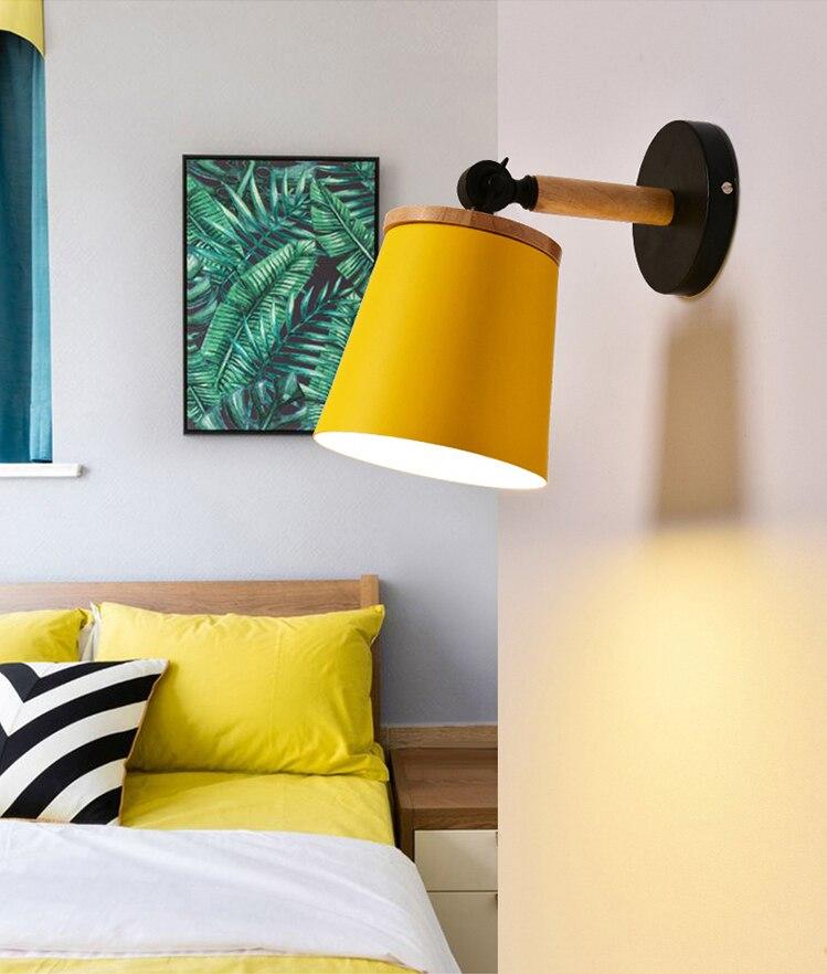 Moderna Arandela Macarons Coloridos De Madeira lâmpada