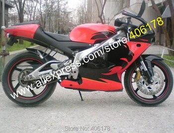 For Aprilia RS 125 Fairing 2001 2002 2003 2004 2005 RS125 01 02 03 04 05 Black Lionhead in red Sportsbike Fairing Kit