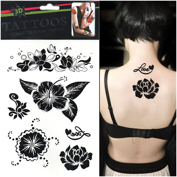 Flor De Loto Dibujo Para Tatuaje - SFB