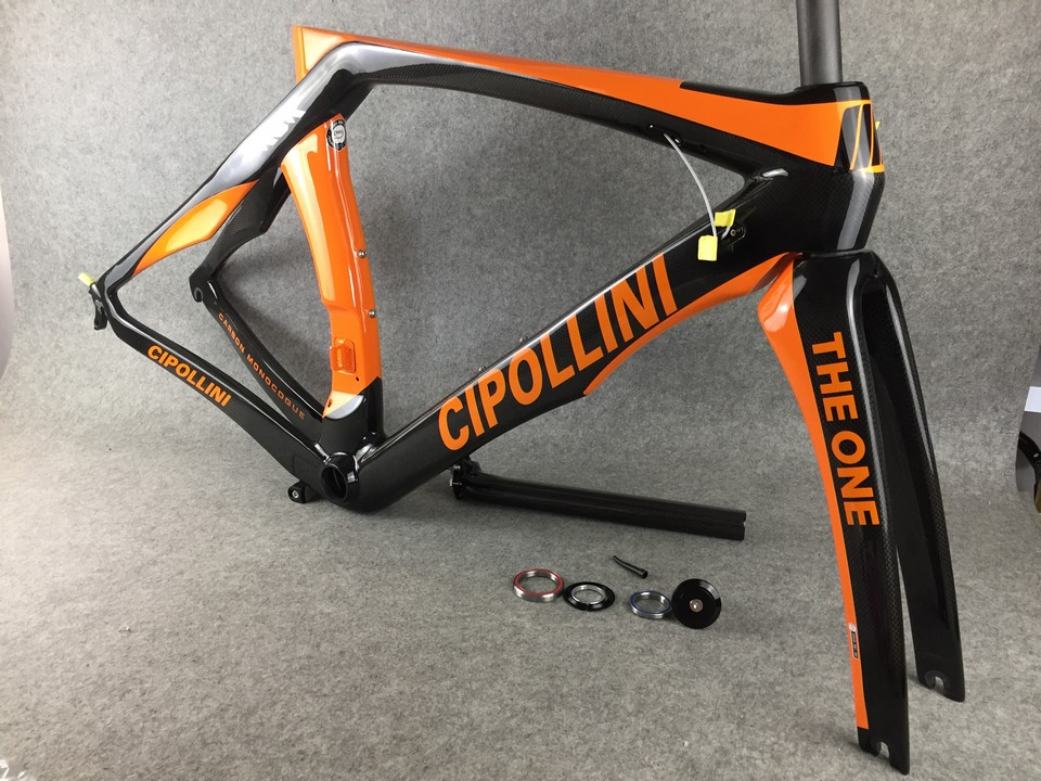 Orange Cipollini RB1K THE ONE Shiny carbon road frame Road bicycle frame 3K/1K title=