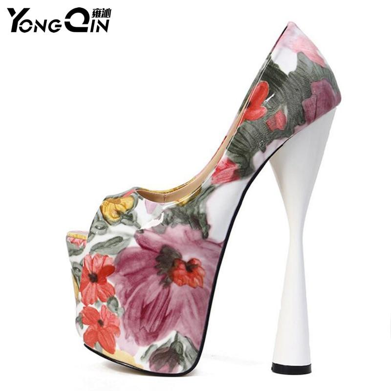 Sexy Women Ultra High Heels 20cm Women Pumps Shoes High Heels Sandals Womens Pumps Shoes SIZE 34-43