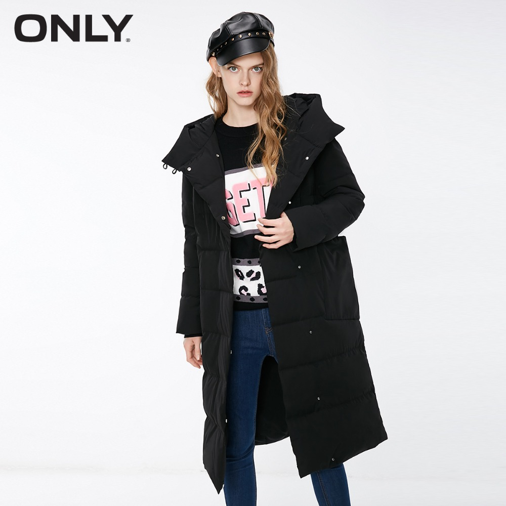 ONLY  Women's Loose Fit Overknee Down Jacket |118312595