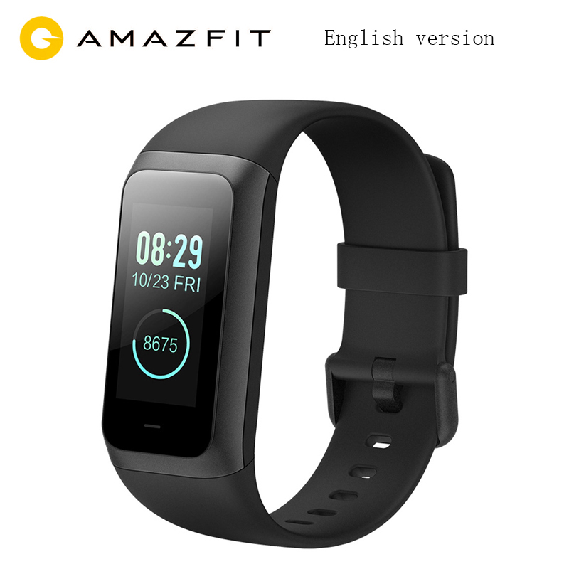 English Original Xiaomi Huami Amazfit Smart Band 2 Music Control 5ATM Waterproof 1 23 Color Touch