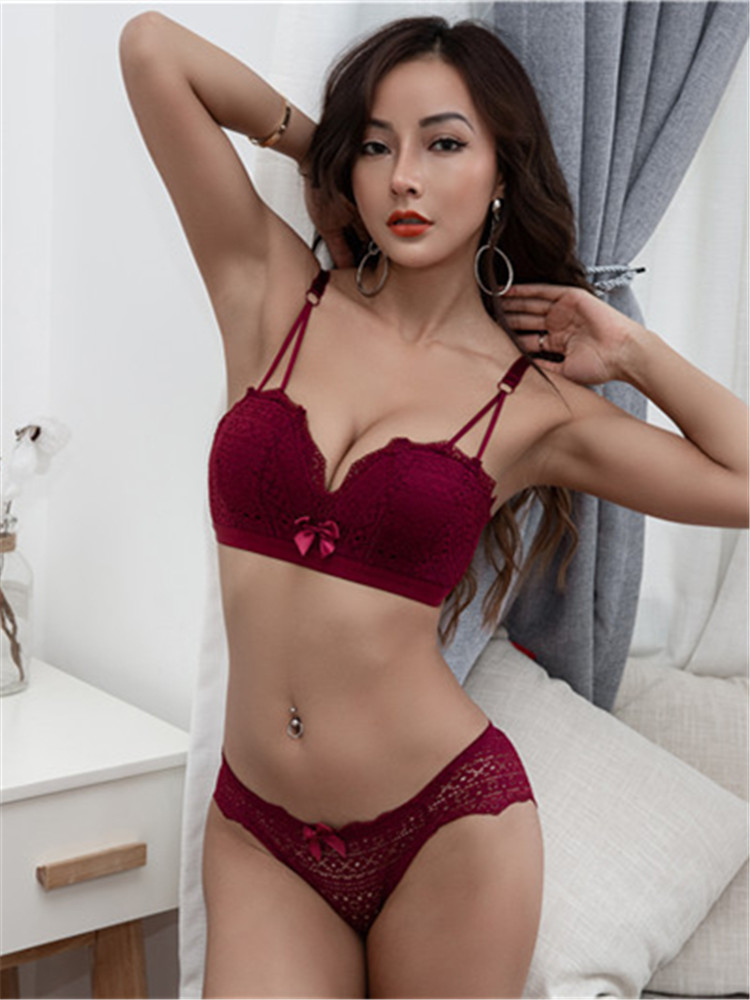 Lingerie Mulher Push Up   Bra   Lengerie Sexi Sexy Womens   Bra     Set   Seamless Bralette for Female   Bras   Panty   Sets     Brief   Intimates
